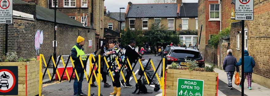 School street in operation in Haringey